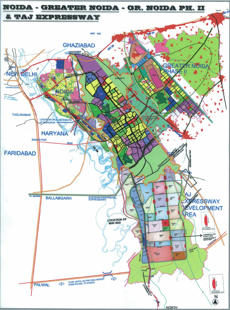 Noida master plan 2031 map